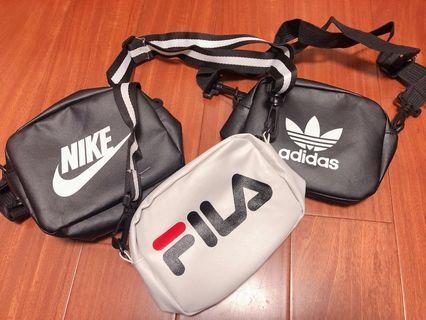 全新 黑色 Nike adidas fila 白色 基本 百搭 小方包 包包 側背包 包包 小包