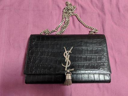 🚚 YSL Croc Embossed tassel chain bag