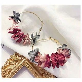 Wild Fake Flower Long Earrings