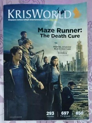 Maze Runner KrisWorld Magazine May 2018