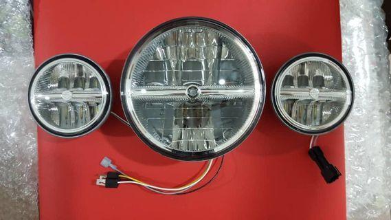 New original Harley LED headlamp & auxiliary lamp