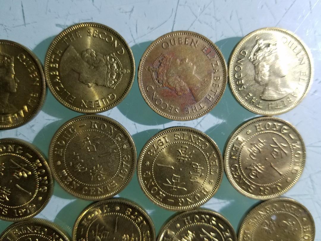 70年代 香港一毫硬幣,合共40個  (編號2)