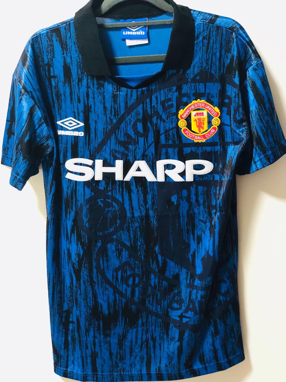 6873f7286e4 92 93 Retro Manchester United Football Jersey