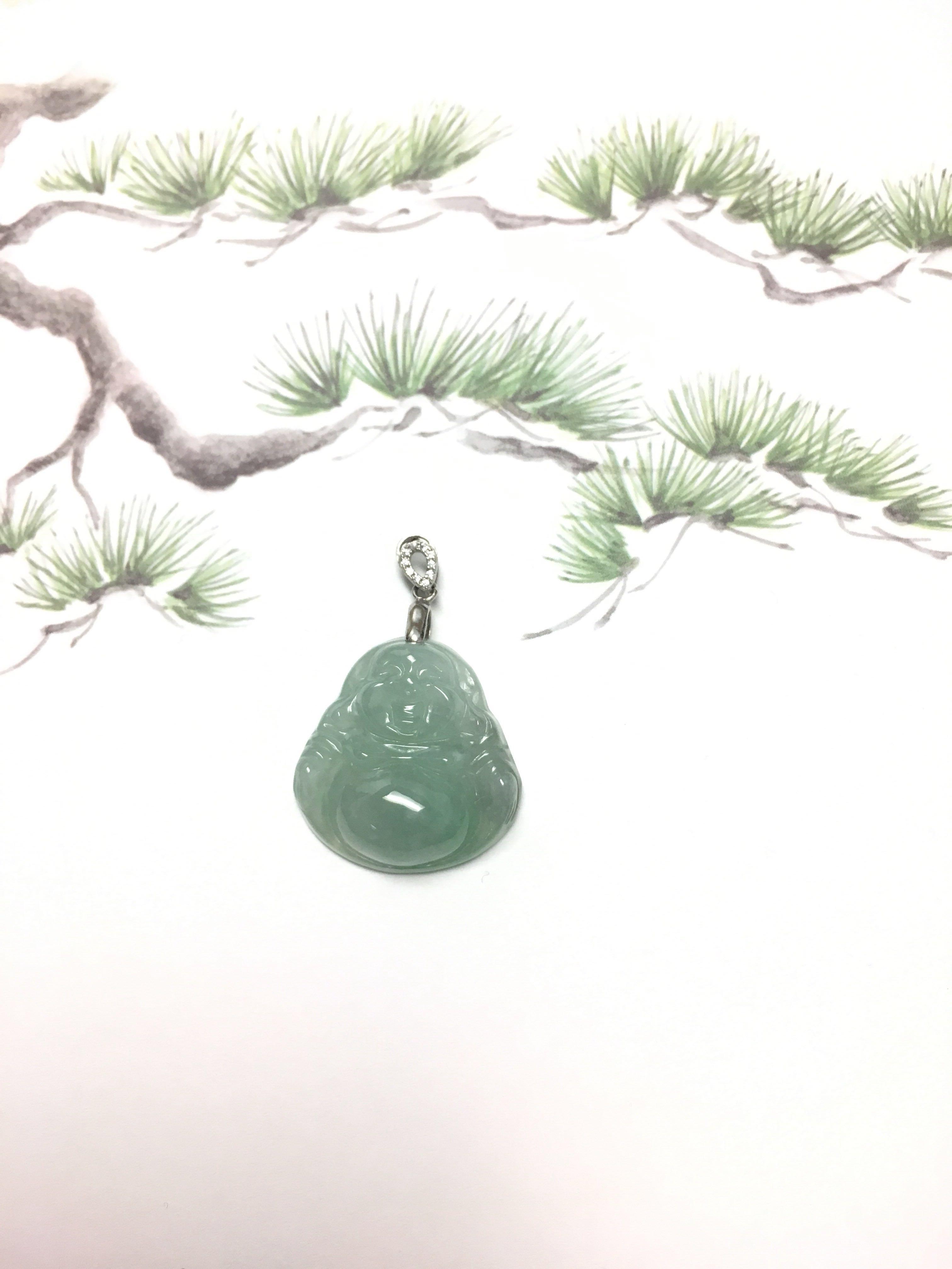 翡翠佛公吊咀 Buddha jade pendant