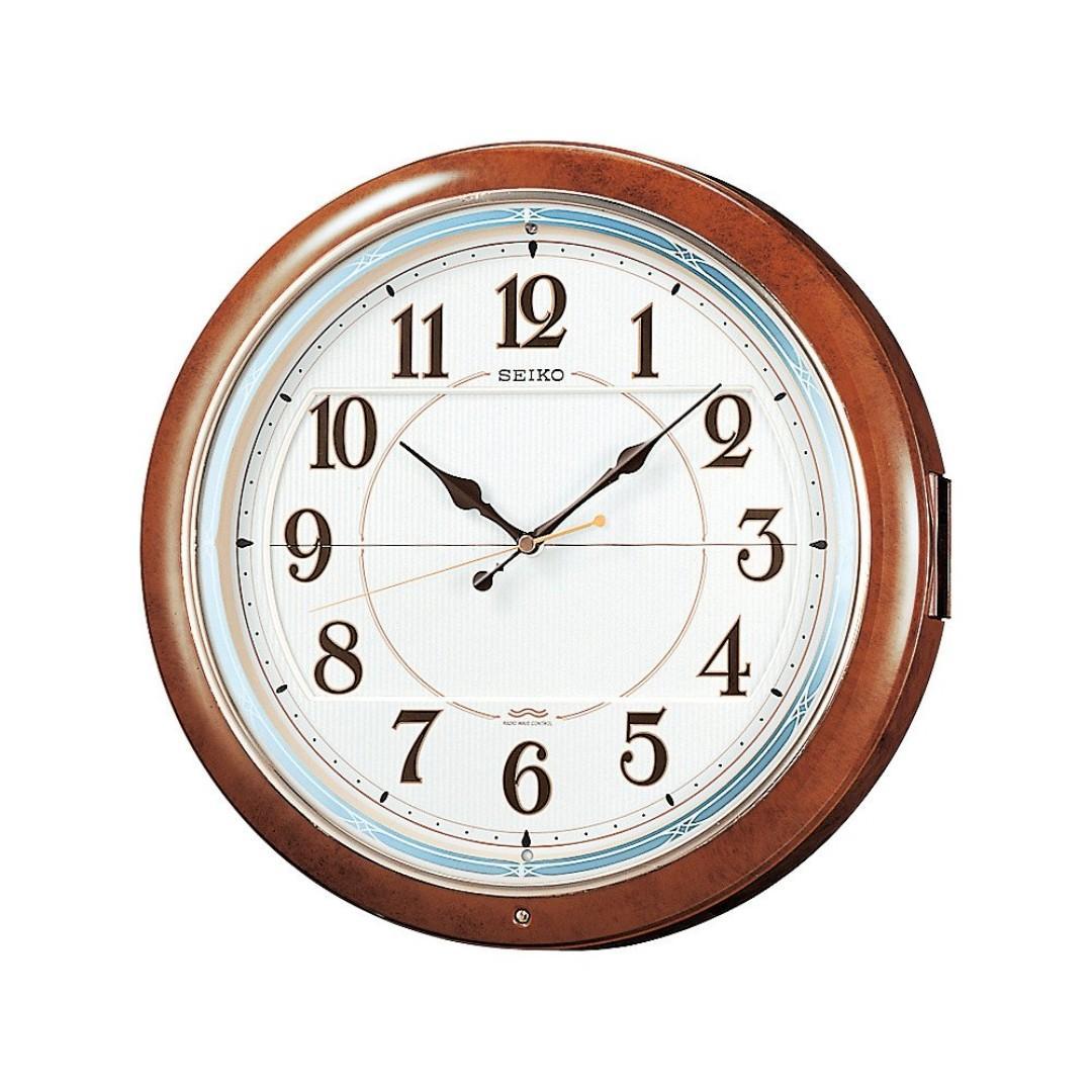 日牌 SEIKO wall clock 6 songs Marble-brown  超好聽音樂掛鐘