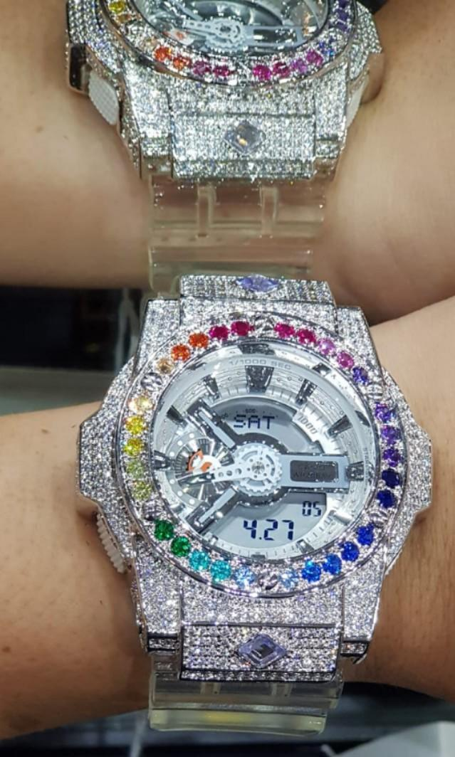 🌟🌟🇸🇬🇸🇬🇸🇬 ULTIMATE THANOS GEMSTONE WATCH,only 8 are available in the universe 😂😂,are you ready to own it!! 2 color are available/gold & silver IF u are ready do call me/what app at 81186474😂😂🌟🌟 (themnosgemwatch only @ gcustomisediamond )