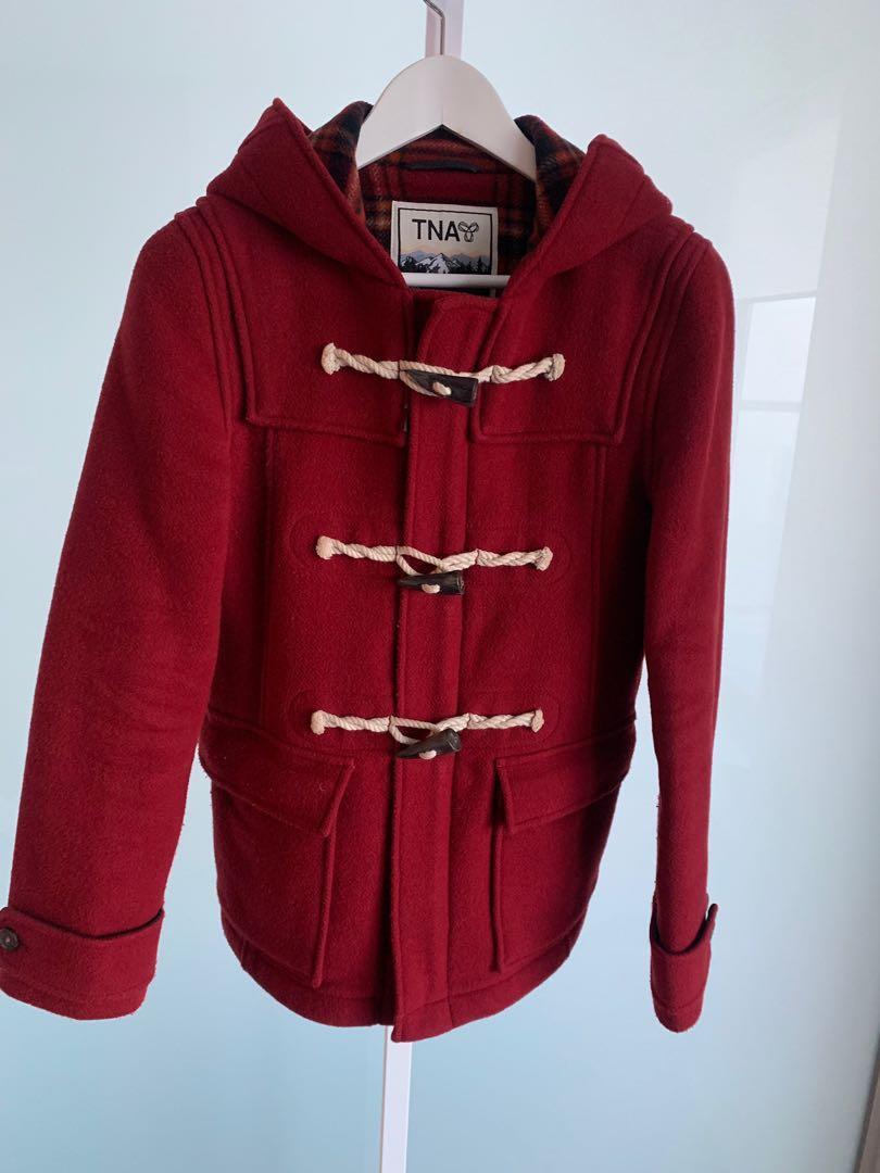Aritzia Winter Coat in Red - Size Small