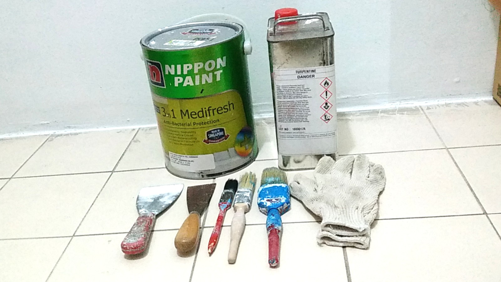 Assorted NIPPON Paint and Painting Accessories