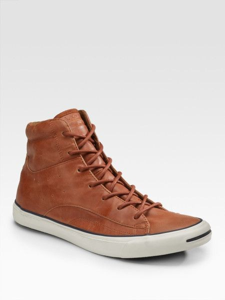 on sale e8af3 fe7c8 Authentic Converse Jack Purcell Race around High cut in Dark Brown ...