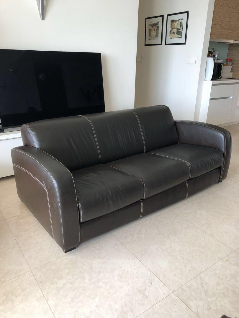 Brown Leather Sofa Vintage
