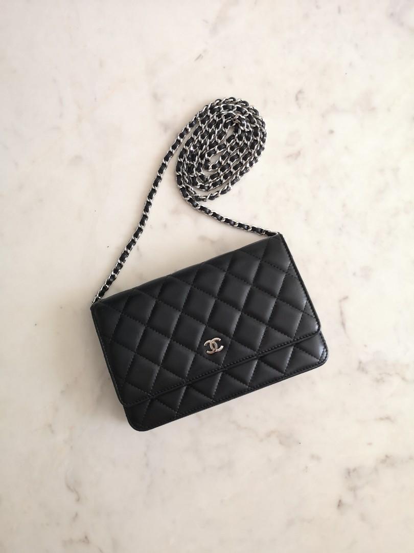 03877cc95aa595 Chanel Wallet on Chain (WOC) in Black Lambskin SHW, Luxury, Bags ...