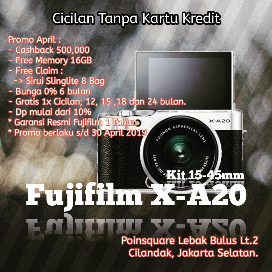 Cicilan Kamera Fujifilm X-A20, tanpa kartu kredit