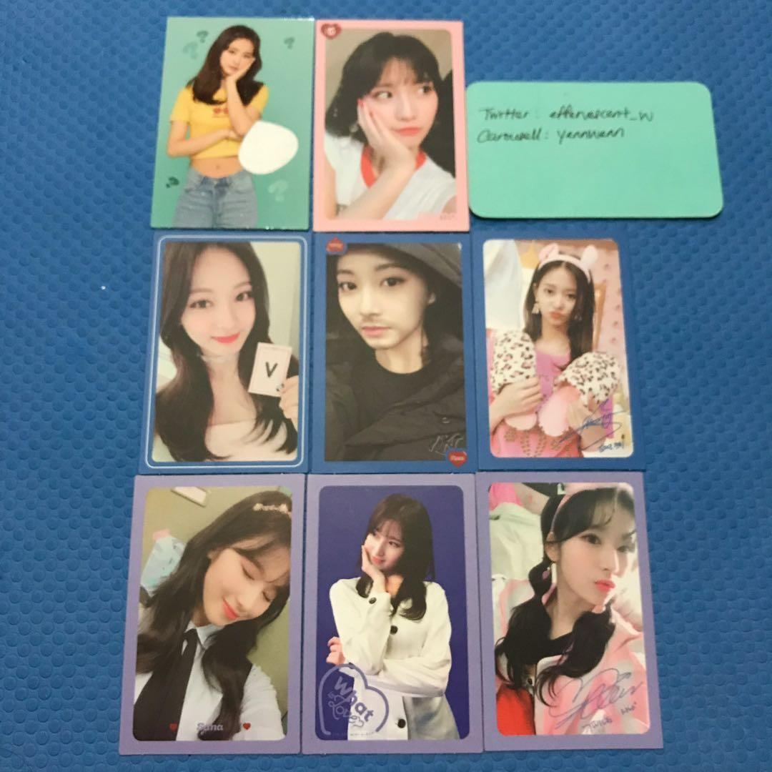 [CLEARANCE] Twice What Is Love WIL Official Photocards