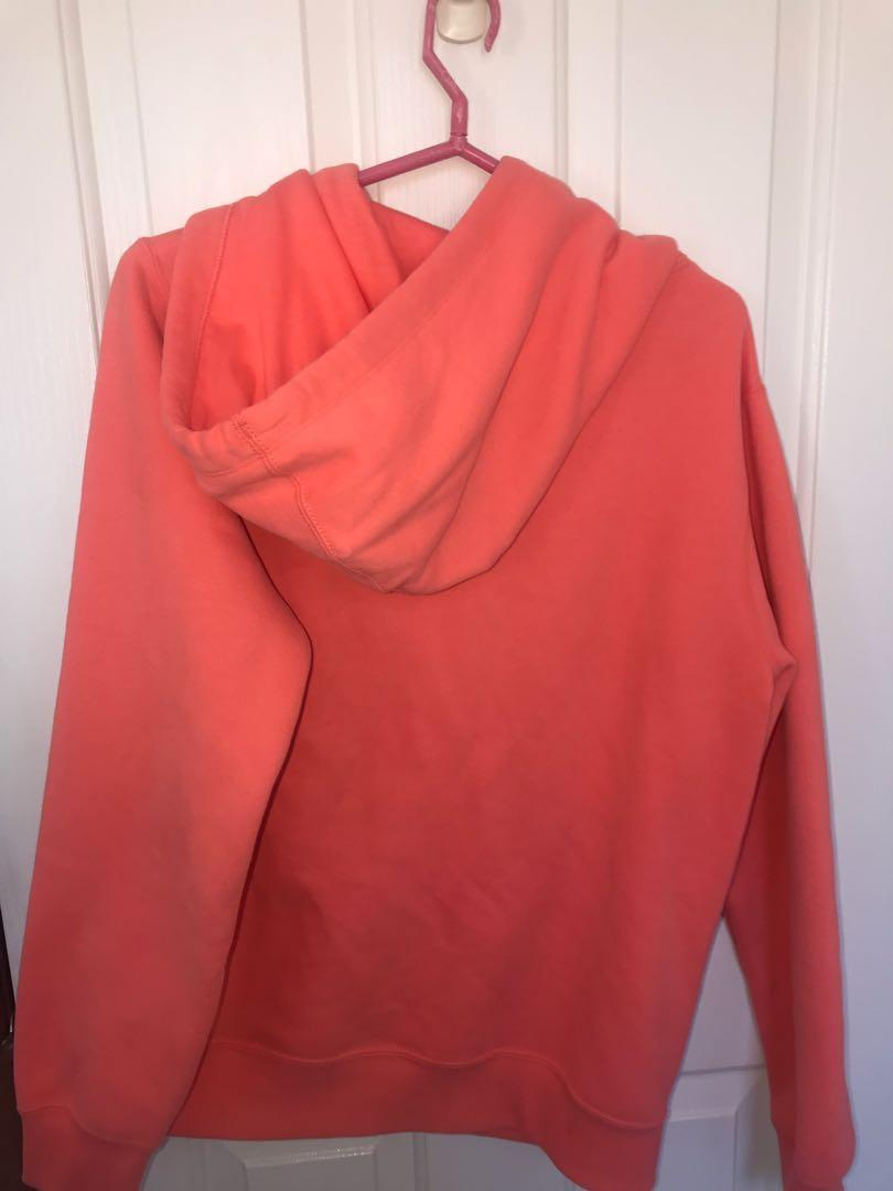 converse coral pink hoodie