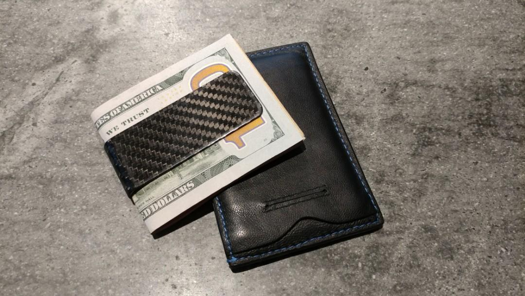 Credit card holder and carbon fiber money clip