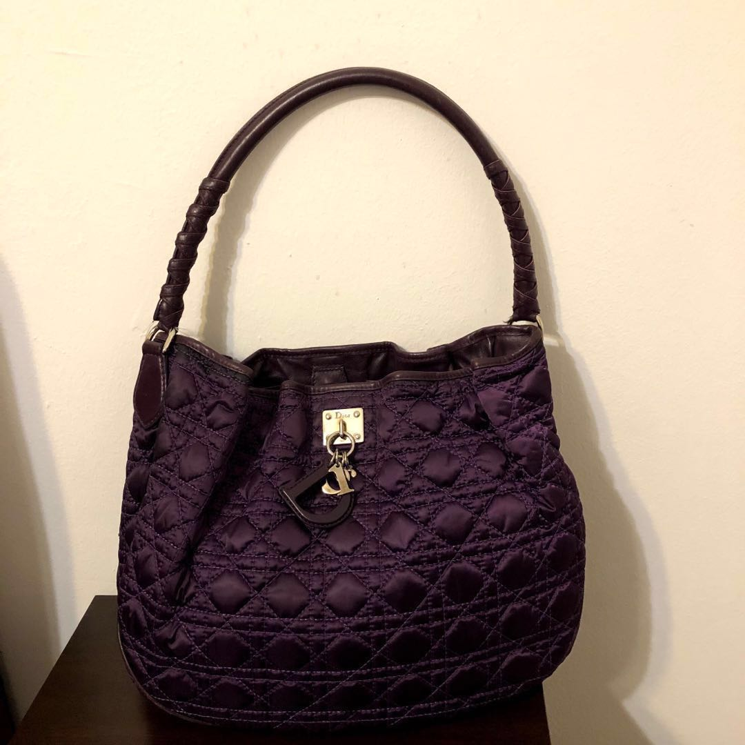 4dc906815bb [DIOR] Purple Vintage Bucket Bag, Luxury, Bags & Wallets, Handbags on  Carousell