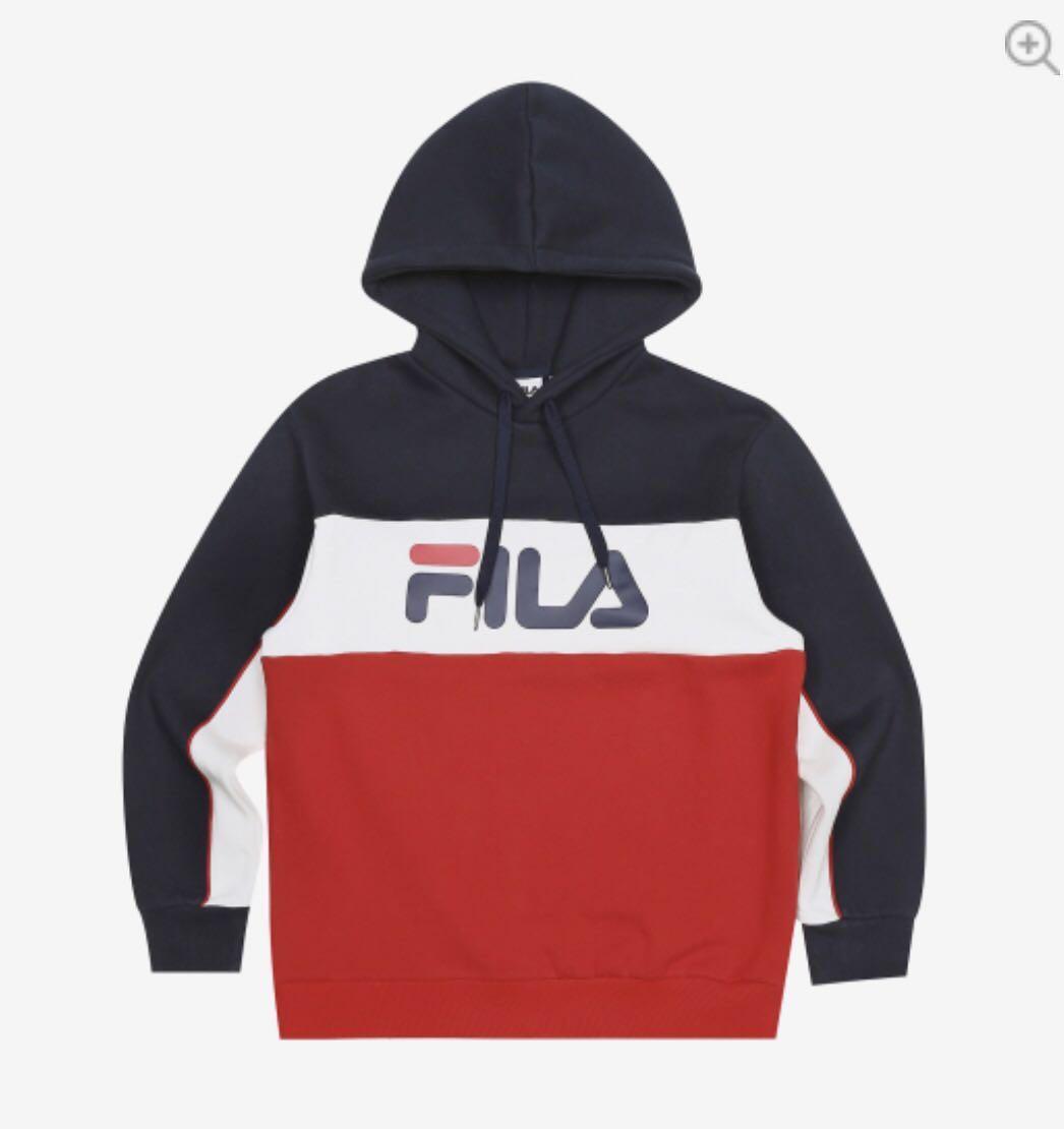 37328720 Fila Tri Colour Hoodie, Men's Fashion, Clothes, Outerwear on Carousell