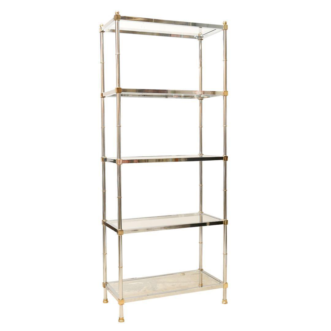 *Free Delivery* Vintage Brass Etagere Bookcase