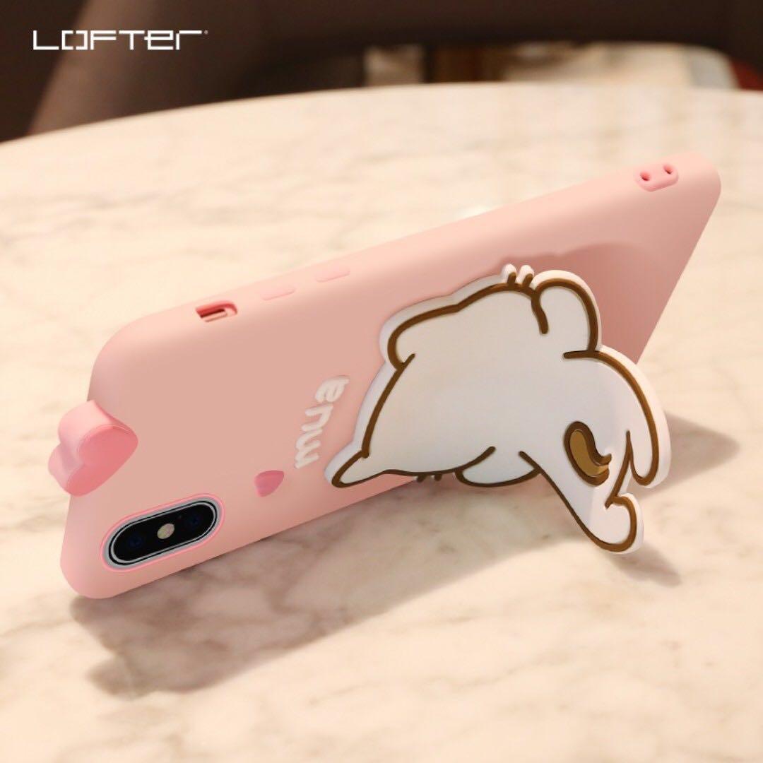 iPhone / Huawei Case w/ Stand Holder & Strap - Kitten