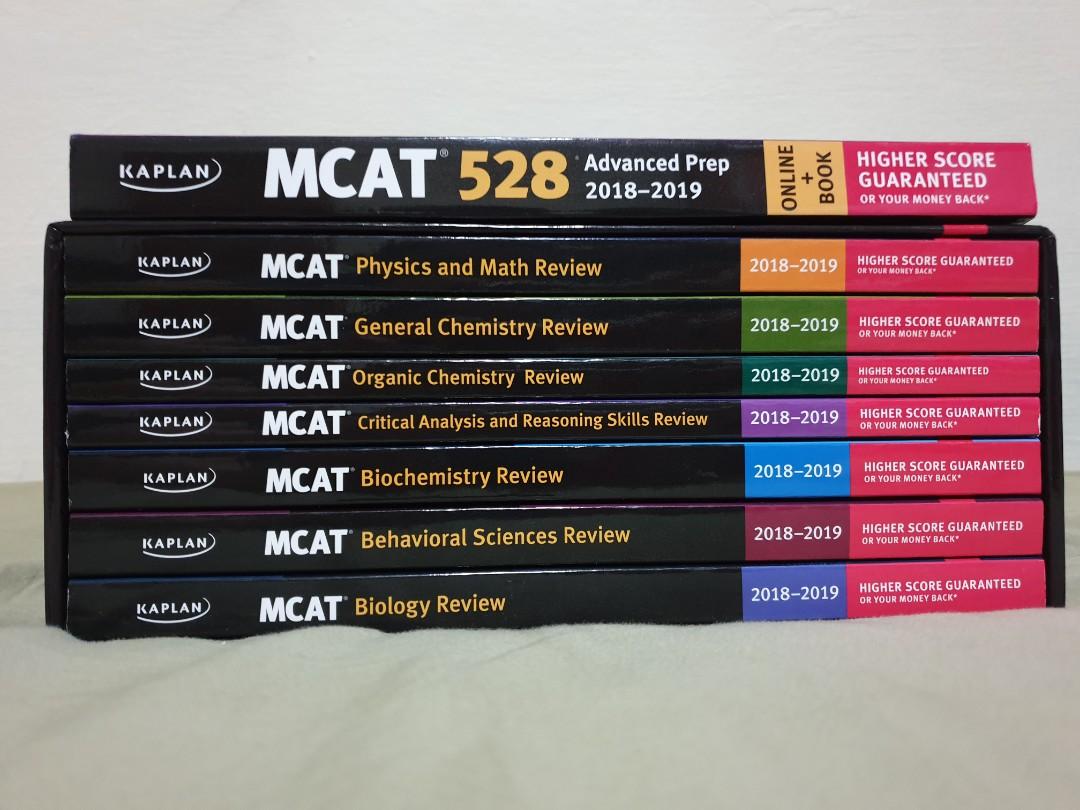 Kaplan MCAT 7-book Subject Review + 528 Advanced Prep (18/19)