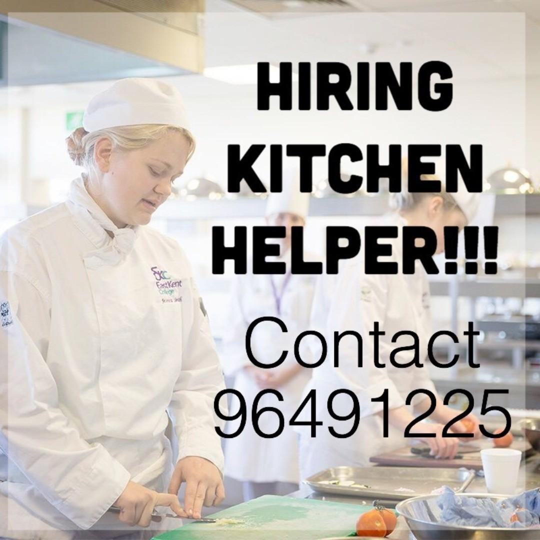 KITCHEN HELPER (1 month, Novena, $9-10/hr)