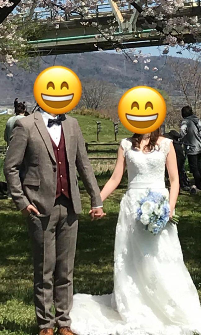 Lace拖尾婚紗