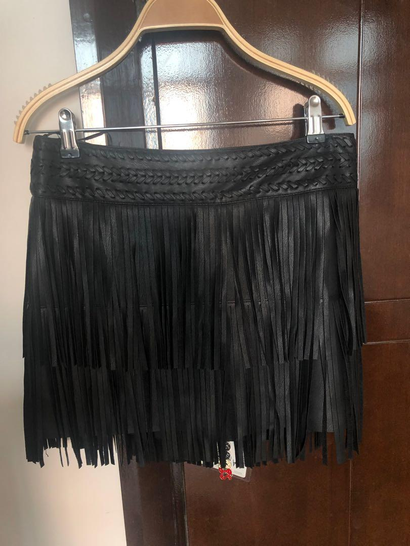 Leather Skirt / Rok kulit MANGO