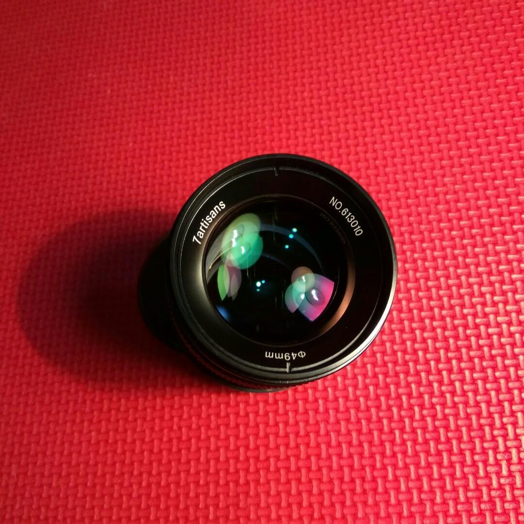 Lensa Fix Manual 7artisans 55mm f1.4 Mirrorless Canon