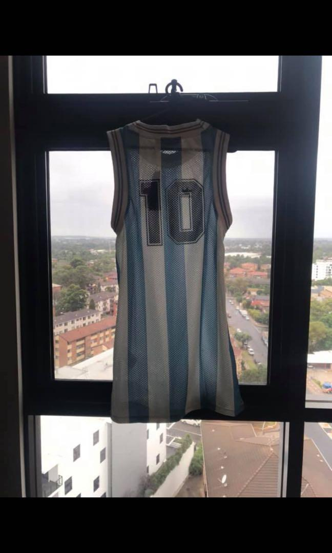 Limited Edition Authentic Adidas Team Argentina Soccer Jersey Dress