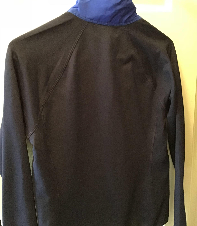L-RL Ralph Lauren Active Women Sz S Jacket Zip Quilted Stitch Pocket Blue