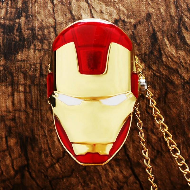 Marvel Avengers Iron Man Mask Watch/ Necklace