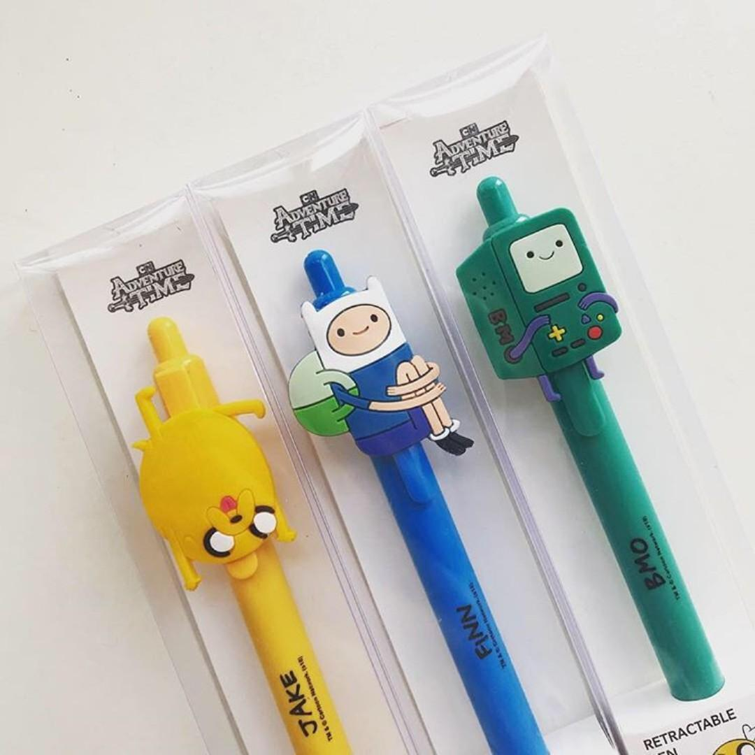 Miniso - Pen We bare bears Pen Adventure Time Gel pen banyak motif