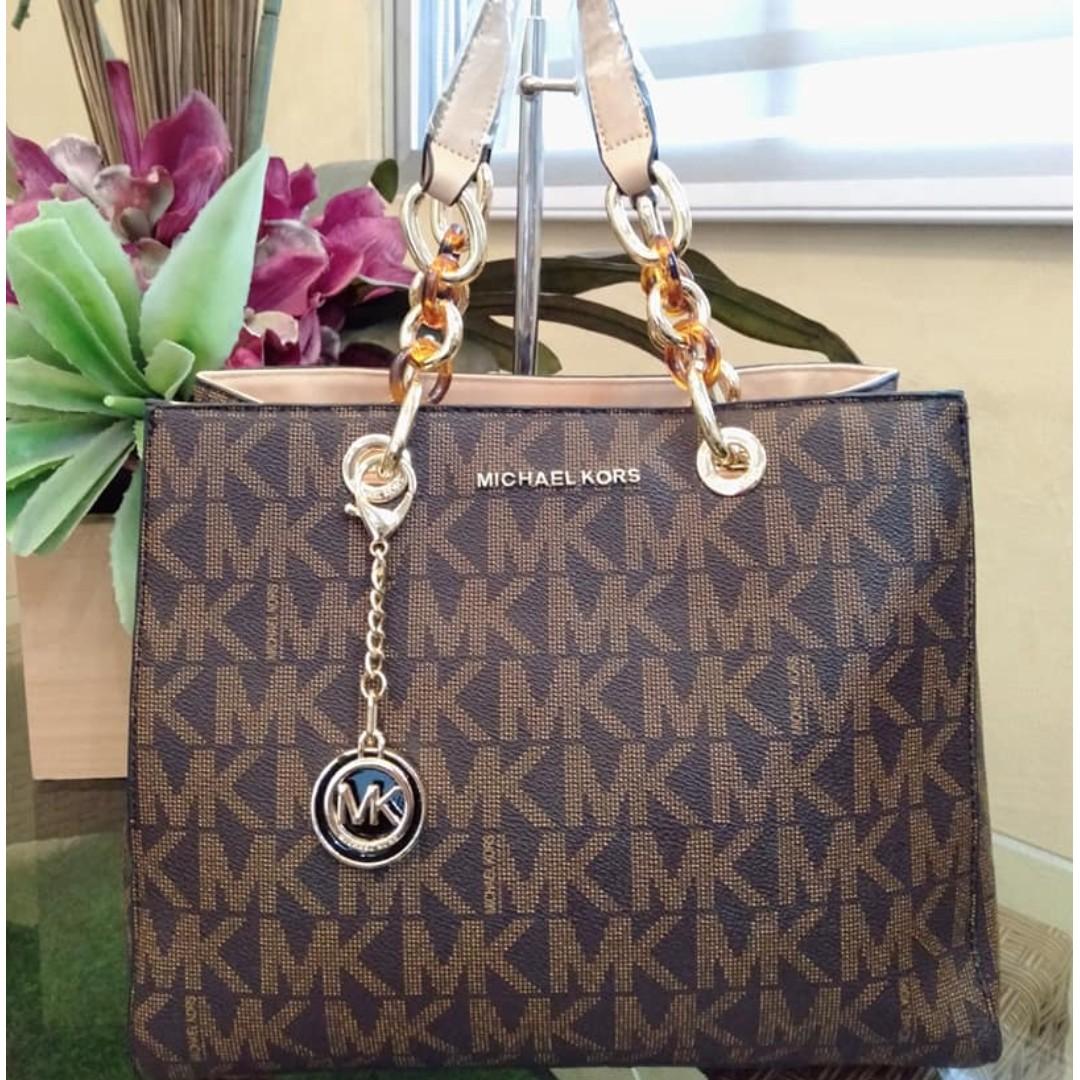 7b202ee086c8 MK Bag Michael Kors Signature Logo Shoulder Bag Hobo Bag Tote Bag MK Long  Handle Bag Hand Bag Women's Bag BROWN, Women's Fashion, Bags & Wallets on  ...