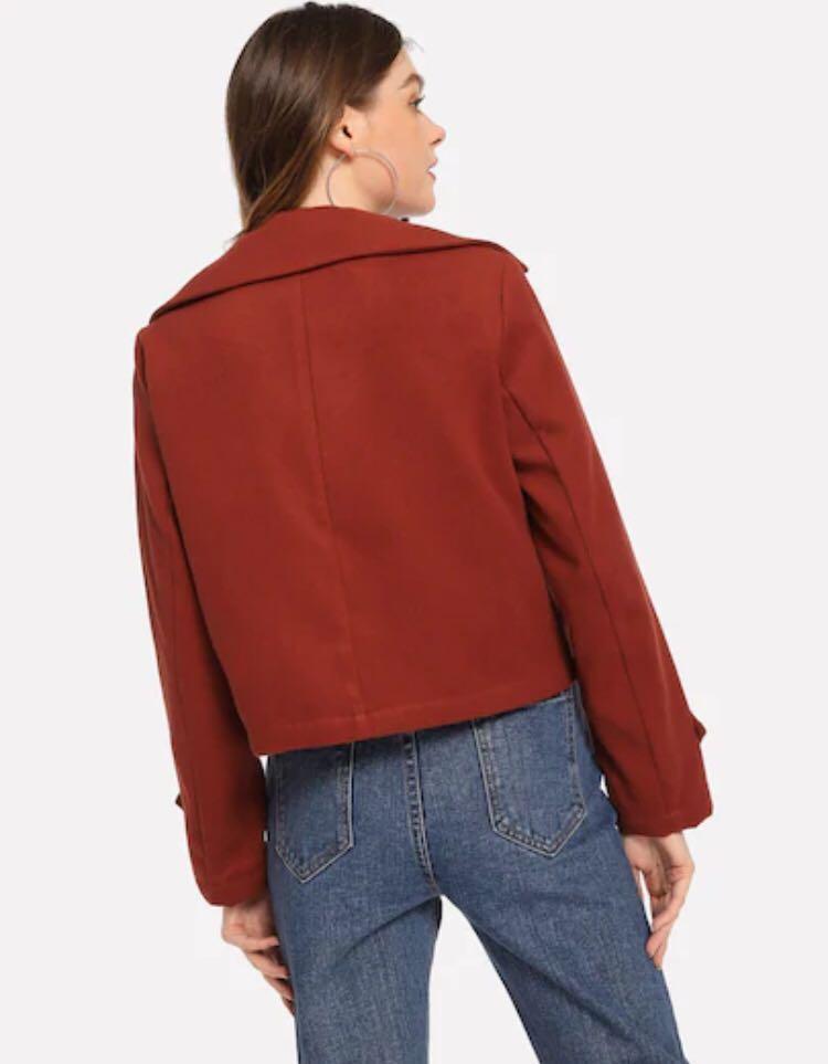 NEW Solid Short Duffle Coat Red size S jaket winter musim dingin merah london costum korea jaket wanita women jacket