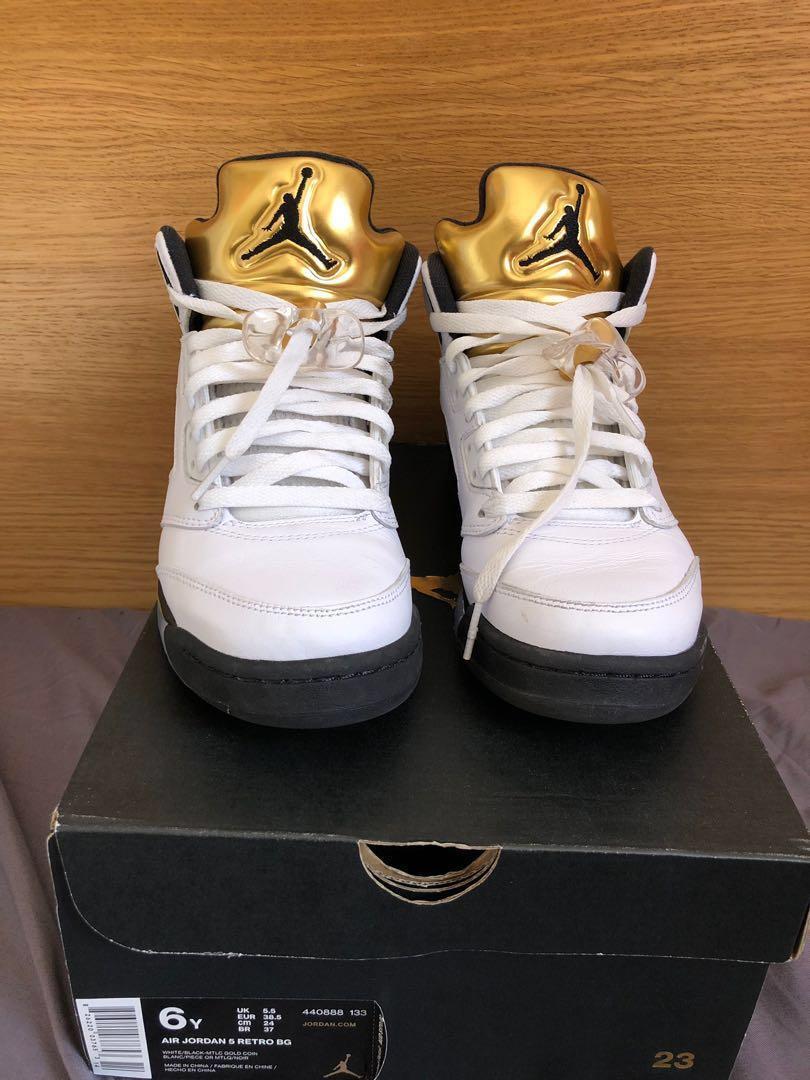"Nike Air Jordan Retro 5 BG ""Olympic Gold"""