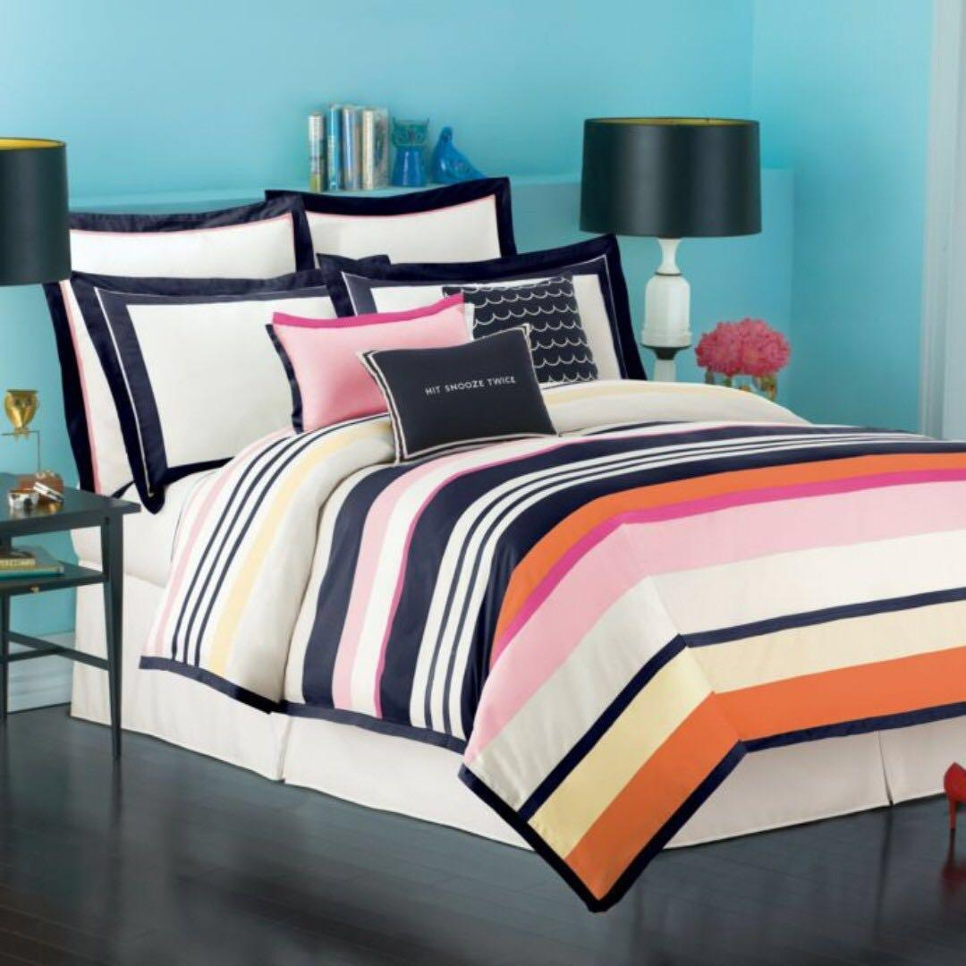 NRFB *Kate Spade*'Candy Shop Stripe' Twin Duvet Cover