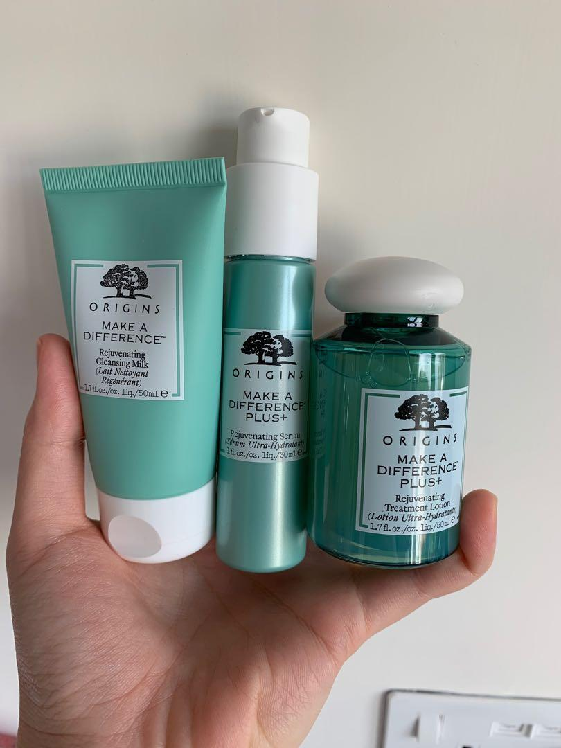 Origins MAKE A DIFFERENCE PLUS 升級版肌膚再生修復精華 爽膚水 潔面奶 cleansing milk treatment lotion