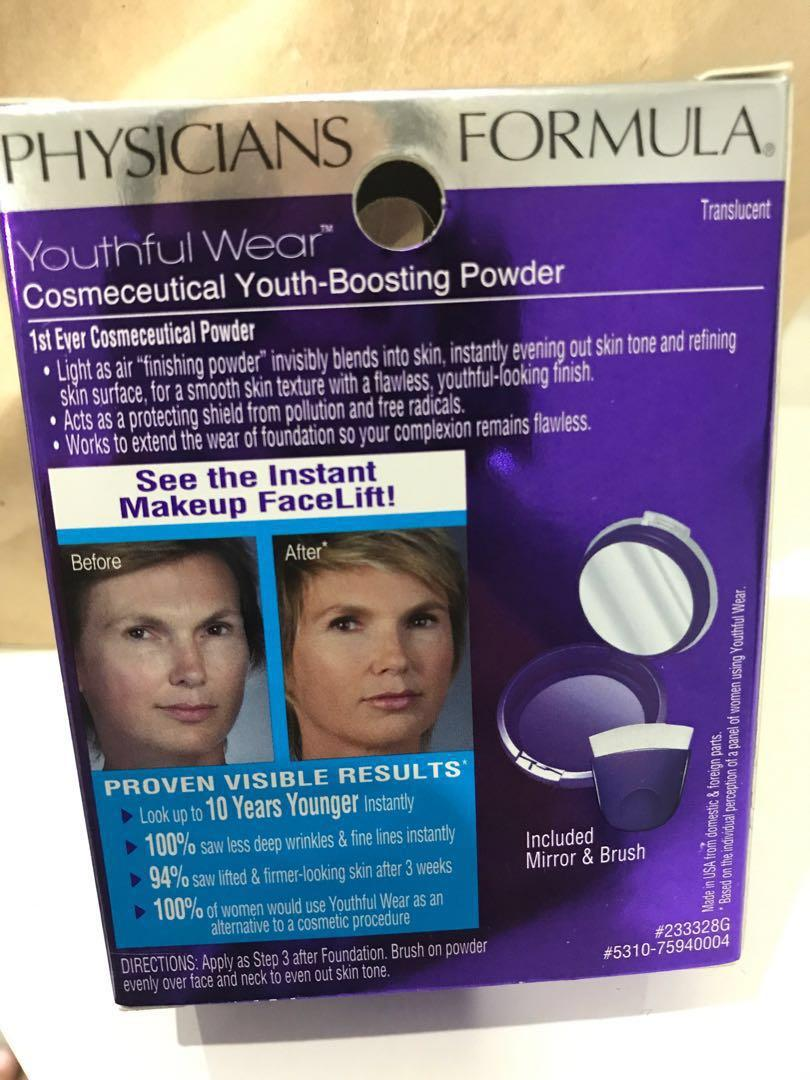 Physicians formula youthful wear cosmeceutical youth-boosting powder matte finish