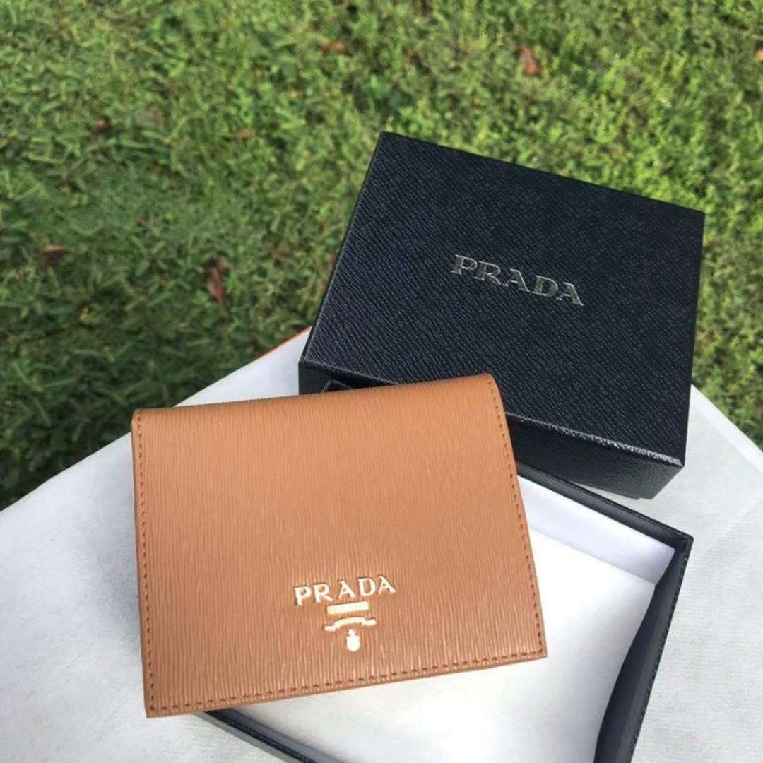 164a6cd958310d Prada small leather wallet 1MV204, Women's Fashion, Bags & Wallets ...