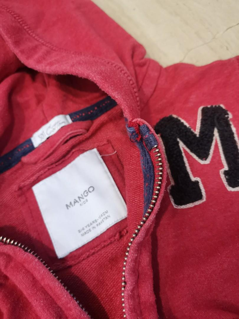Pre-loved hoodie zip up cotton jacket for age 3 and above.