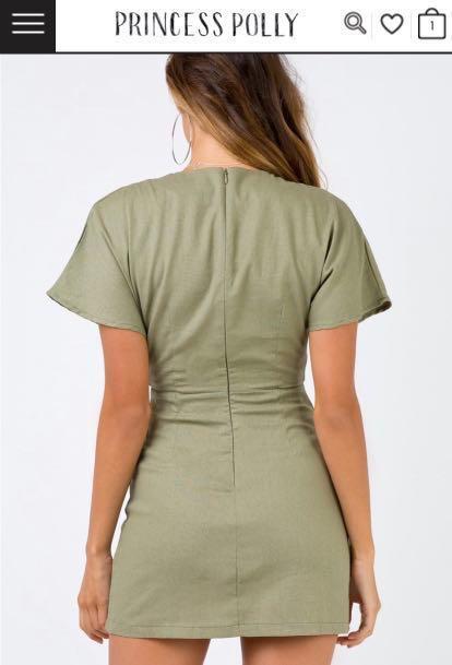 Princess Polly Kiss Land Tie Front Mini Dress size10