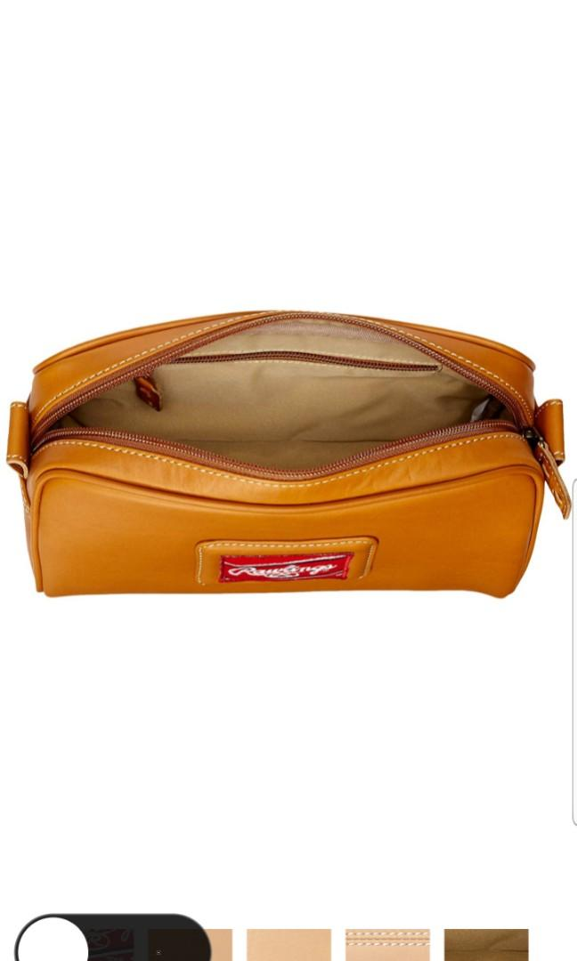 Rawlings Baseball Leather Heart of the Hide Travel Toiletries Toiletry Holiday Shave Wash Organizer Bag