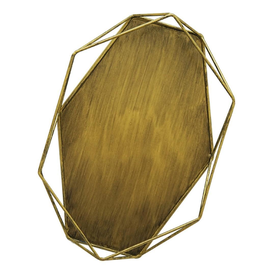 RENTAL: D198J DARK GOLD DESERT HEXAGON TRAY