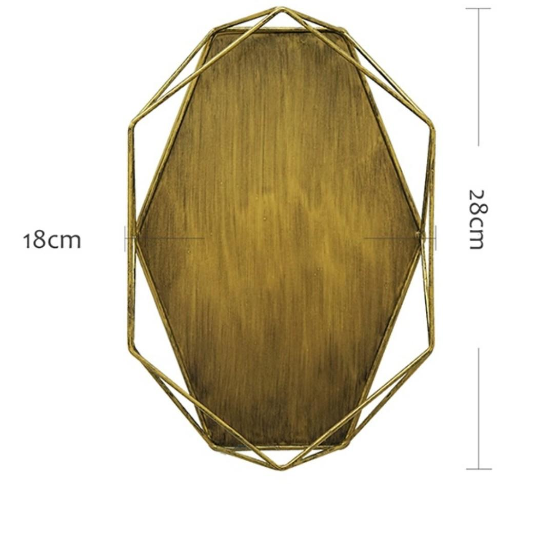 RENTAL: D198J DARK GOLD DESERT HEXAGON TRAY