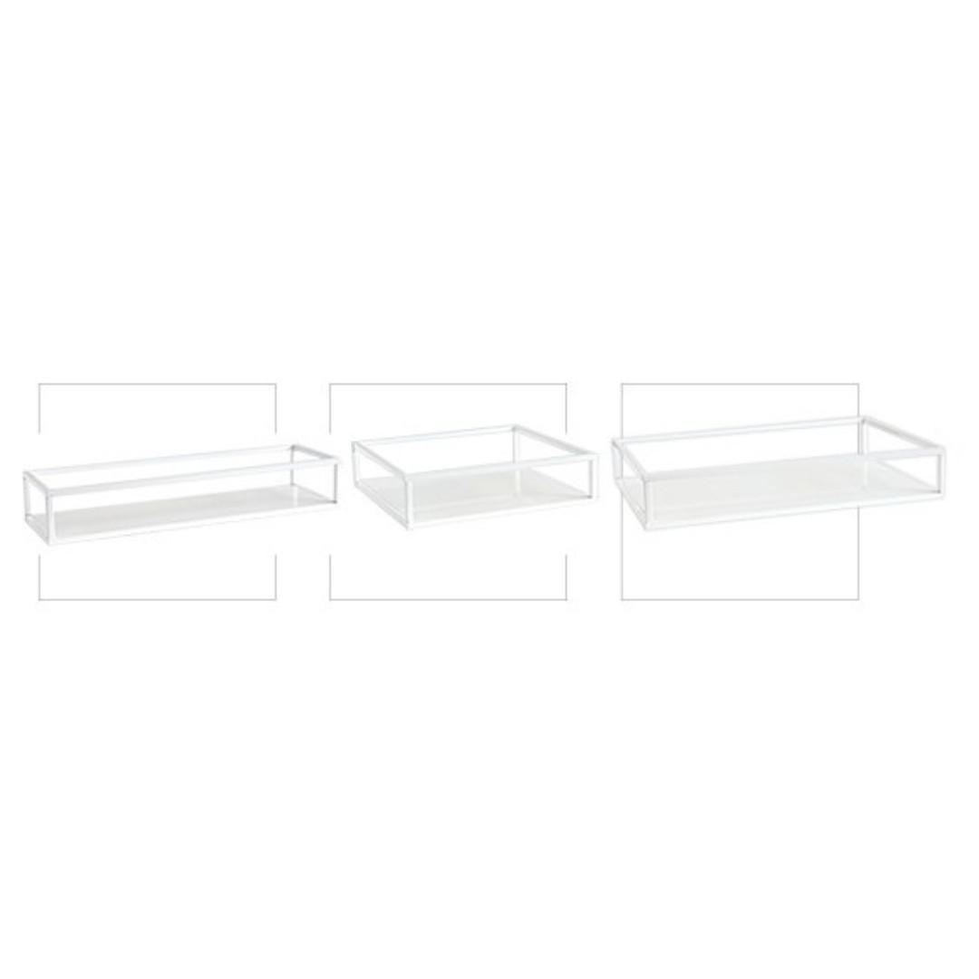 RENTAL: D97A WHITE RECTANGLE DESERT TRAY (3 IN A SET)