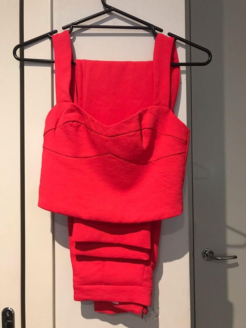 RENTING Kookai Valentine Pants and Cordoba Top set size 34