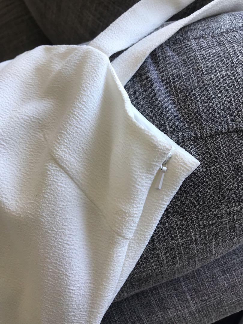 SASS & BIDE | WHITE DRESS SIZE SMALL/8-10 RRP $200