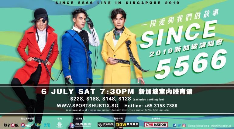 Since 5566 Singapore Concert 2x cat 1