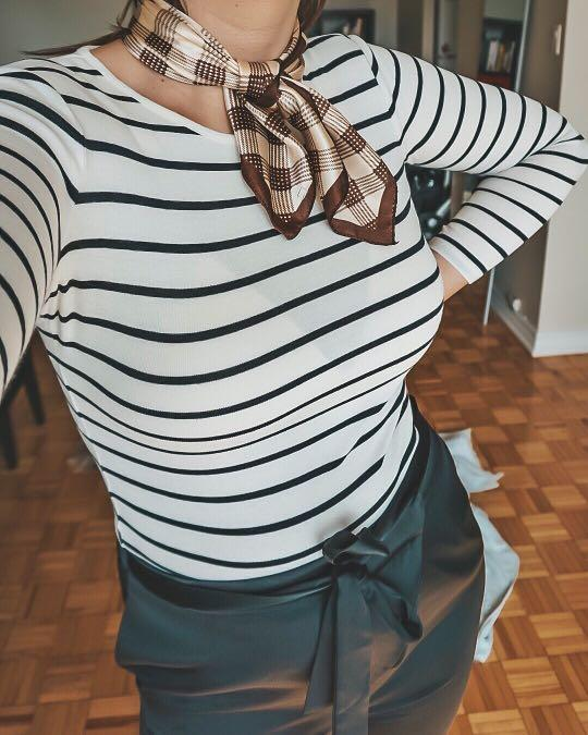 Striped Black and White Ralph Lauren Long Sleeve Top