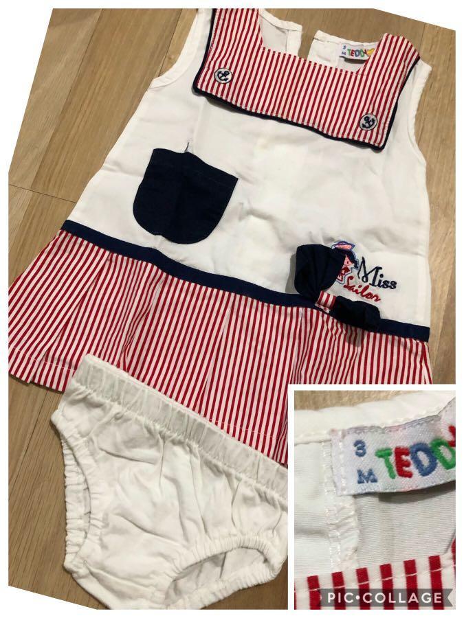 Take all baju bayi perempuan mothercare 0-3 dress sailor 3m